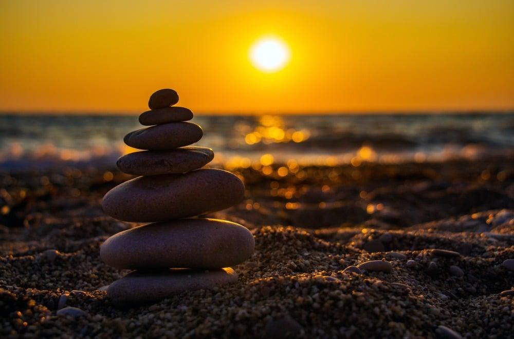 Balans stenen yoga